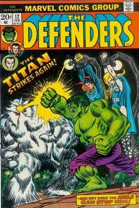 Cover Thumbnail for The Defenders (Marvel, 1972 series) #12 [Regular Edition]