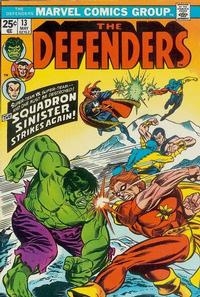Cover Thumbnail for The Defenders (Marvel, 1972 series) #13