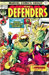 Cover Thumbnail for The Defenders (Marvel, 1972 series) #22 [Regular Edition]