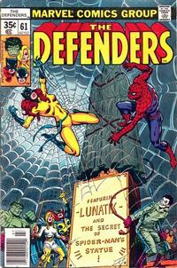 Cover Thumbnail for The Defenders (Marvel, 1972 series) #61