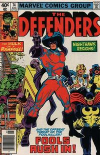 Cover Thumbnail for The Defenders (Marvel, 1972 series) #74 [Newsstand]