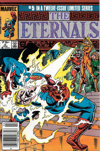 Cover Thumbnail for Eternals (Marvel, 1985 series) #5 [Newsstand]