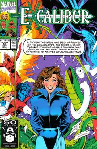 Cover Thumbnail for Excalibur (Marvel, 1988 series) #43 [Direct]