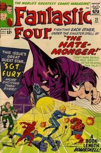 Cover Thumbnail for Fantastic Four (Marvel, 1961 series) #21 [Regular Edition]