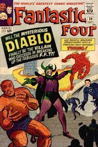 Cover for Fantastic Four (Marvel, 1961 series) #30 [Regular Edition]