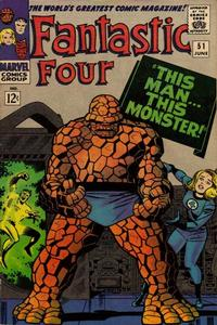 Cover Thumbnail for Fantastic Four (Marvel, 1961 series) #51 [Regular Edition]