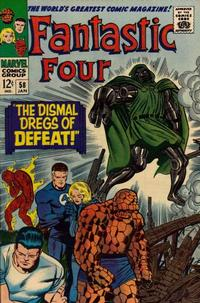 Cover Thumbnail for Fantastic Four (Marvel, 1961 series) #58 [Regular Edition]