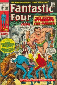 Cover Thumbnail for Fantastic Four (Marvel, 1961 series) #102 [Regular Edition]