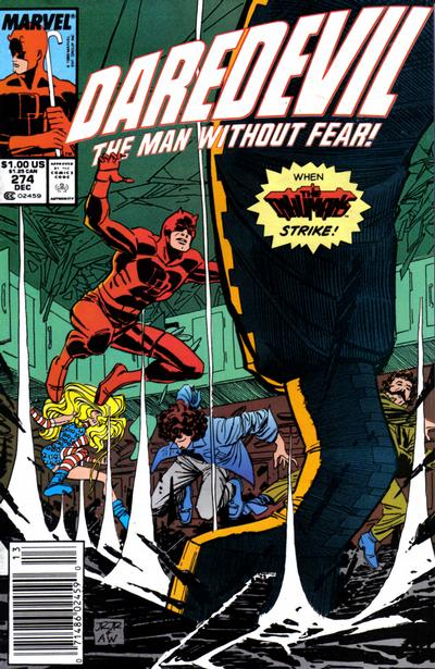 Cover for Daredevil (Marvel, 1964 series) #274 [Direct Edition]