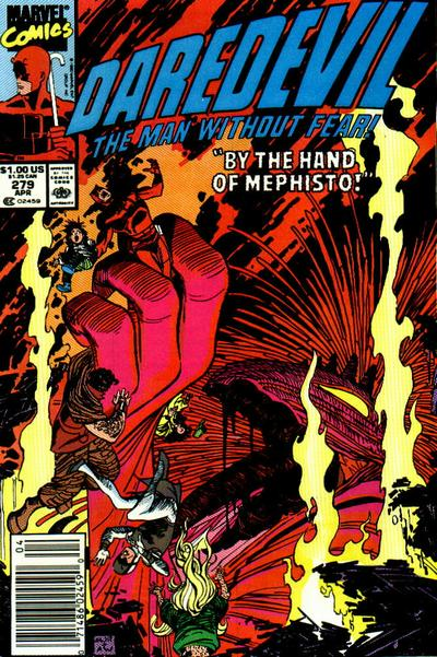 Cover for Daredevil (Marvel, 1964 series) #279 [Newsstand Edition]