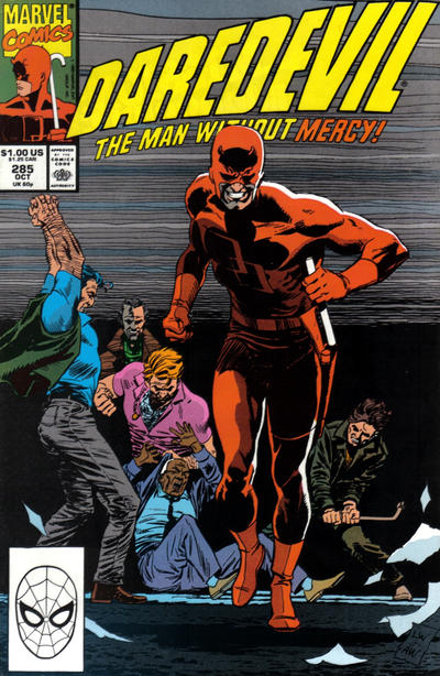 Cover for Daredevil (Marvel, 1964 series) #285 [Direct Edition]