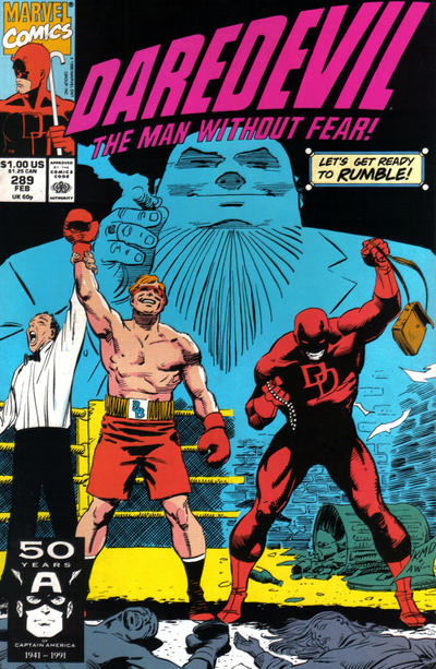Cover for Daredevil (Marvel, 1964 series) #289 [Direct Edition]