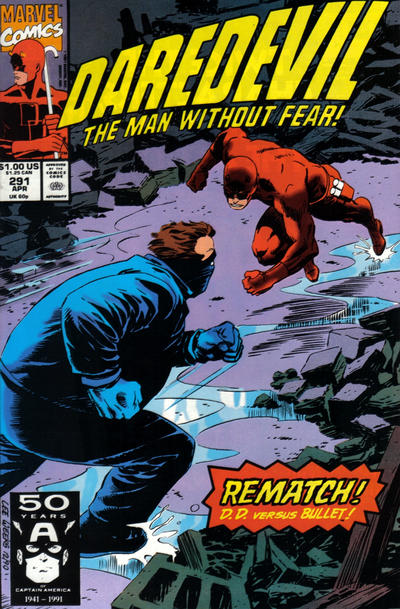 Cover for Daredevil (Marvel, 1964 series) #291 [Newsstand]