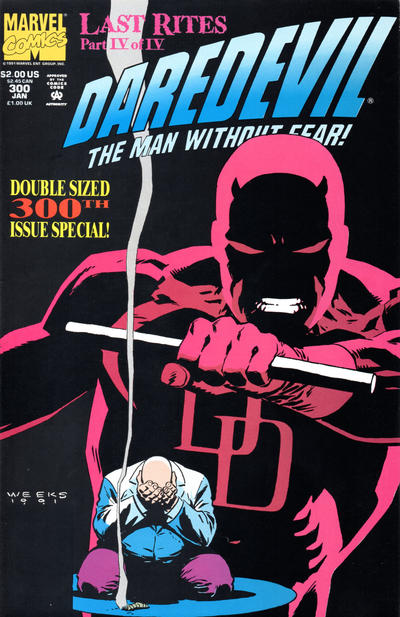 Cover for Daredevil (Marvel, 1964 series) #300 [Direct Edition]