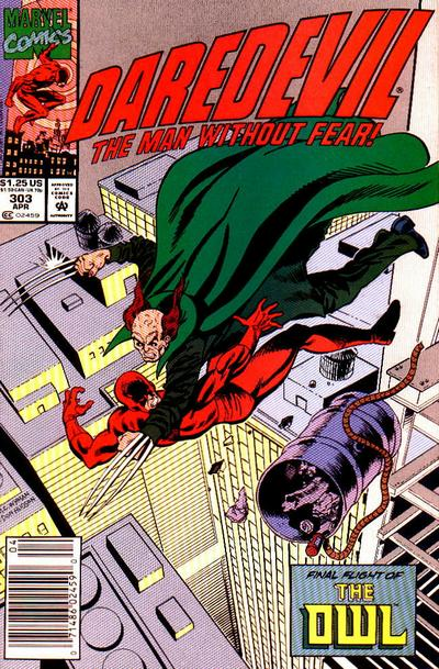 Cover for Daredevil (Marvel, 1964 series) #303 [Newsstand Edition]