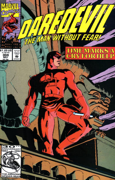 Cover for Daredevil (Marvel, 1964 series) #304 [Direct Edition]