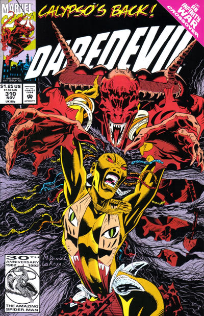 Cover for Daredevil (Marvel, 1964 series) #310 [Direct Edition]