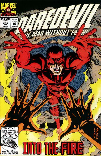 Cover for Daredevil (Marvel, 1964 series) #312 [Direct Edition]