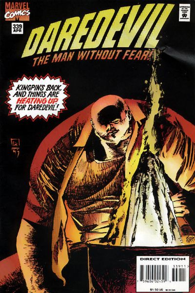 Cover for Daredevil (Marvel, 1964 series) #339 [Direct Edition]