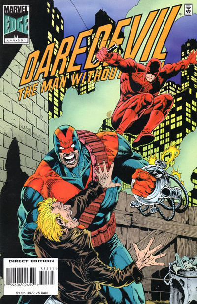 Cover for Daredevil (Marvel, 1964 series) #351 [Newsstand]