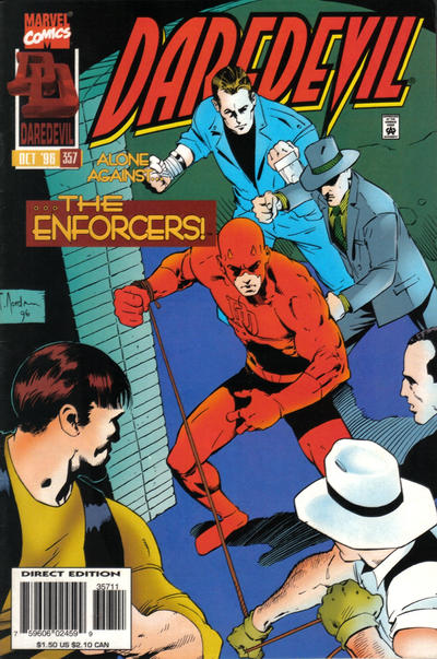 Cover for Daredevil (Marvel, 1964 series) #357 [Direct Edition]