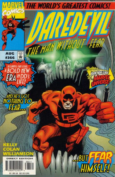Cover for Daredevil (Marvel, 1964 series) #366 [Direct Edition]