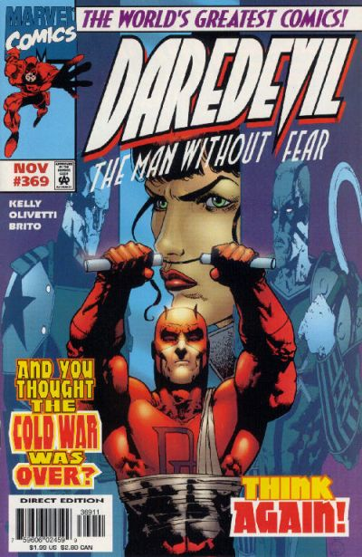 Cover for Daredevil (Marvel, 1964 series) #369 [Direct Edition]