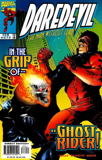 Cover for Daredevil (Marvel, 1964 series) #372 [Direct Edition]