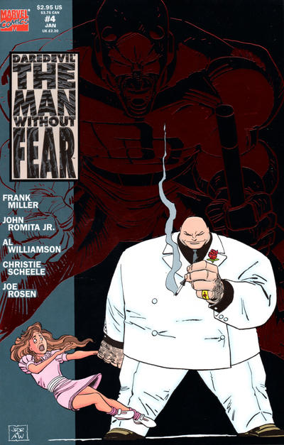 Cover for Daredevil The Man without Fear (Marvel, 1993 series) #4 [Newsstand]