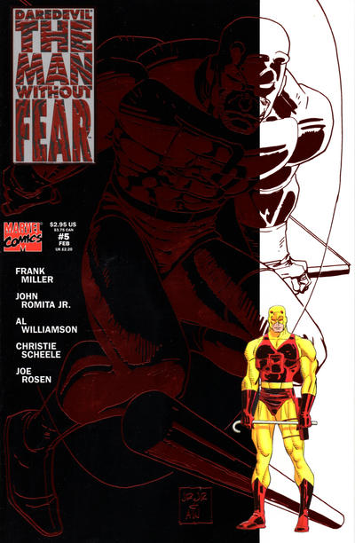 Cover for Daredevil The Man without Fear (Marvel, 1993 series) #5 [Direct Edition]