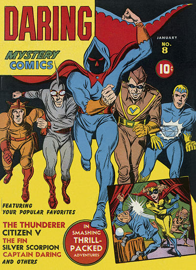 Cover for Daring Mystery Comics (Marvel, 1940 series) #8
