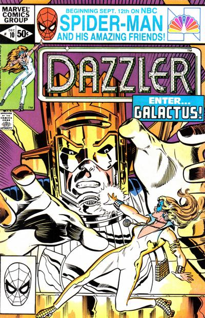 Cover for Dazzler (Marvel, 1981 series) #10 [Newsstand Edition]