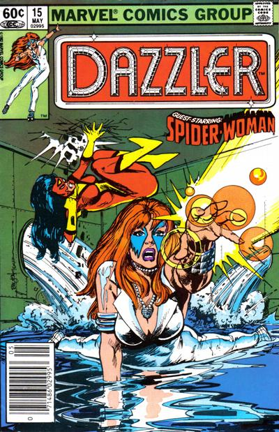 Cover for Dazzler (Marvel, 1981 series) #15 [Newsstand Edition]