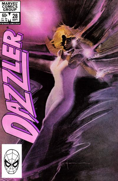 Cover for Dazzler (Marvel, 1981 series) #28 [Direct Edition]