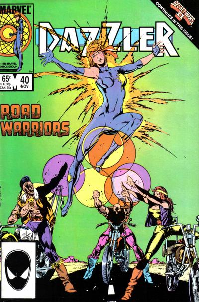 Cover for Dazzler (Marvel, 1981 series) #40 [Canadian Newsstand Edition]