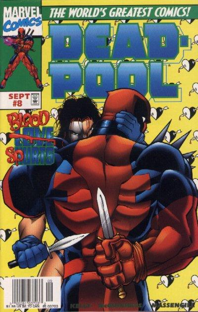 Cover for Deadpool (Marvel, 1997 series) #8 [Newsstand Edition]