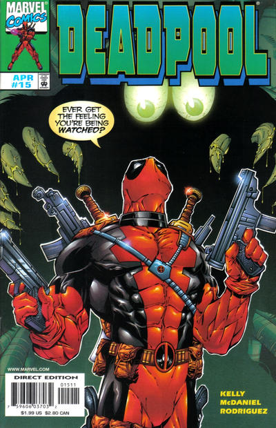 Cover for Deadpool (Marvel, 1997 series) #15 [Direct Edition]