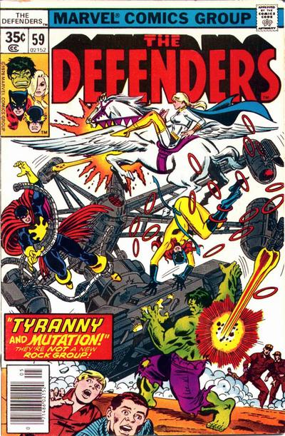 Cover for The Defenders (Marvel, 1972 series) #59