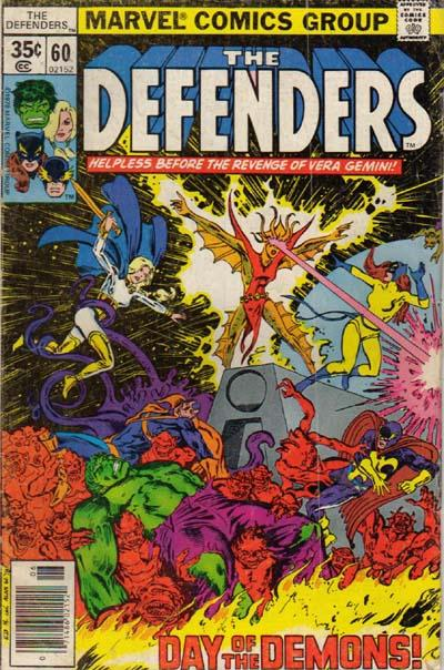 Cover for The Defenders (Marvel, 1972 series) #60