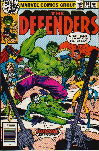 Cover for The Defenders (Marvel, 1972 series) #70