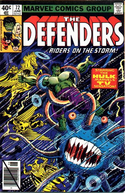 Cover for The Defenders (Marvel, 1972 series) #72 [Newsstand]