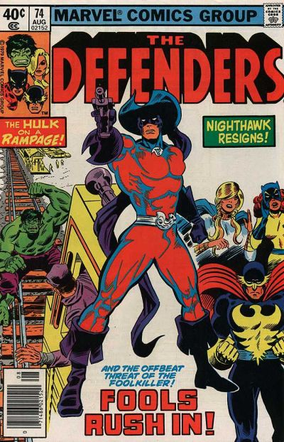 Cover for The Defenders (Marvel, 1972 series) #74 [Newsstand]