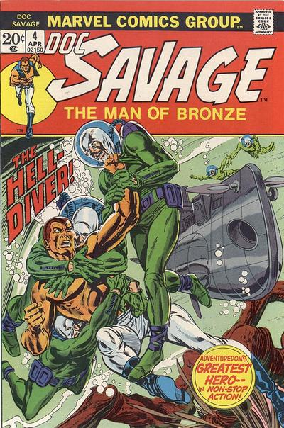 Cover for Doc Savage (Marvel, 1972 series) #4