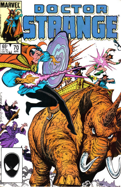 Cover for Doctor Strange (Marvel, 1974 series) #70 [Direct Edition]