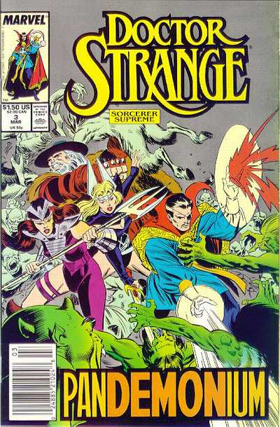 Cover for Doctor Strange, Sorcerer Supreme (Marvel, 1988 series) #3