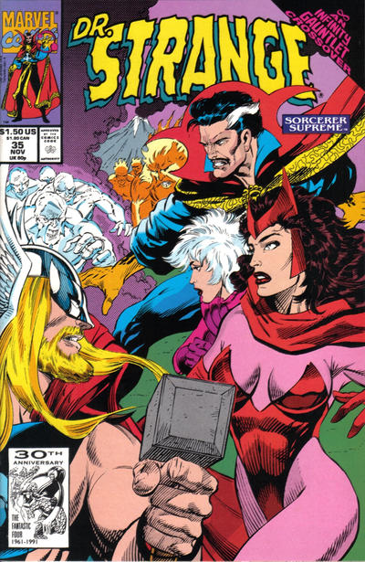 Cover for Doctor Strange, Sorcerer Supreme (Marvel, 1988 series) #35 [Newsstand]
