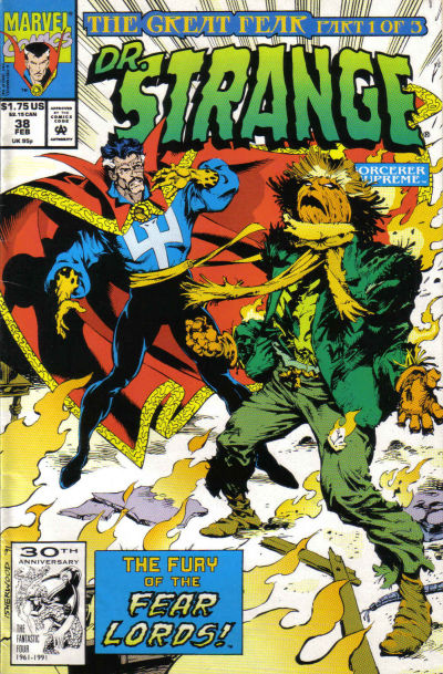 Cover for Doctor Strange, Sorcerer Supreme (Marvel, 1988 series) #38 [Direct Edition]