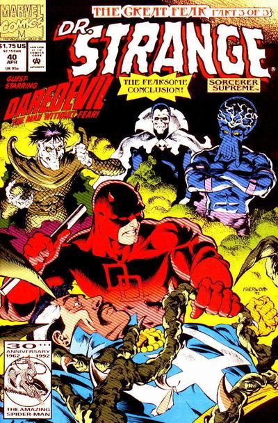 Cover for Doctor Strange, Sorcerer Supreme (Marvel, 1988 series) #40 [Direct Edition]