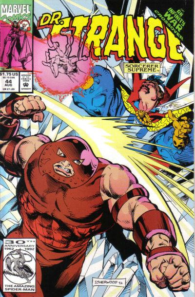 Cover for Doctor Strange, Sorcerer Supreme (Marvel, 1988 series) #44 [Direct Edition]
