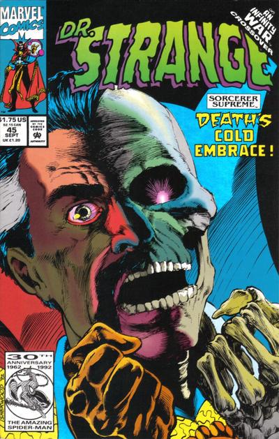 Cover for Doctor Strange, Sorcerer Supreme (Marvel, 1988 series) #45 [Direct Edition]